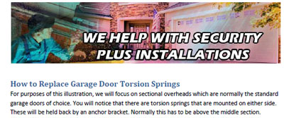 How to Replace Garage Door Torsion Springs - Garage Door Repair The Colony